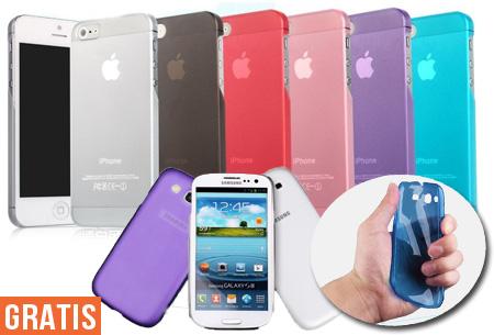 Flexibele smartphone cases | 2 stuks nu GRATIS!