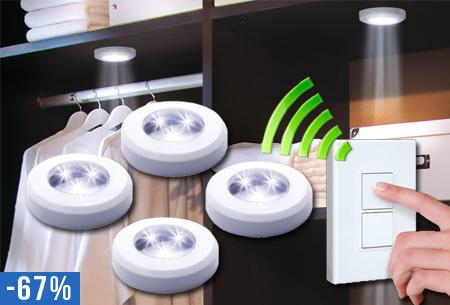4 draadloze LED spotlights nu slechts €19,95!